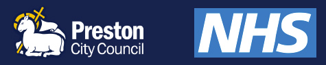 Preston City Council & NHS Logos