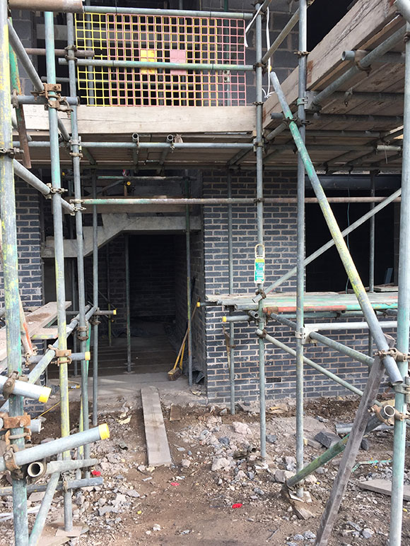 the new building being built