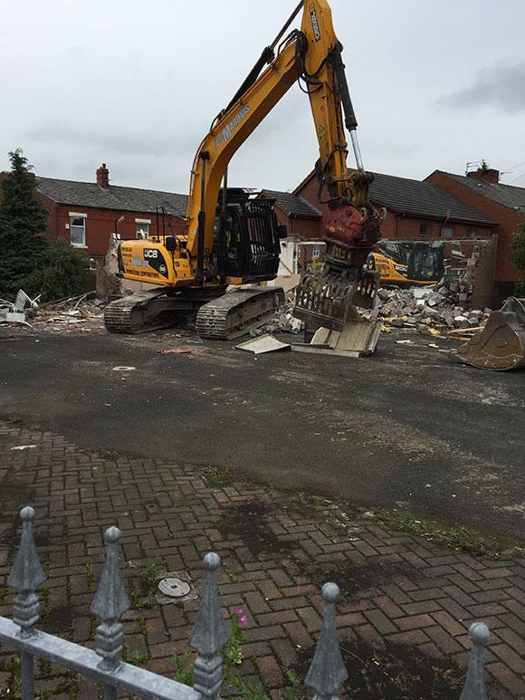demolition of old building